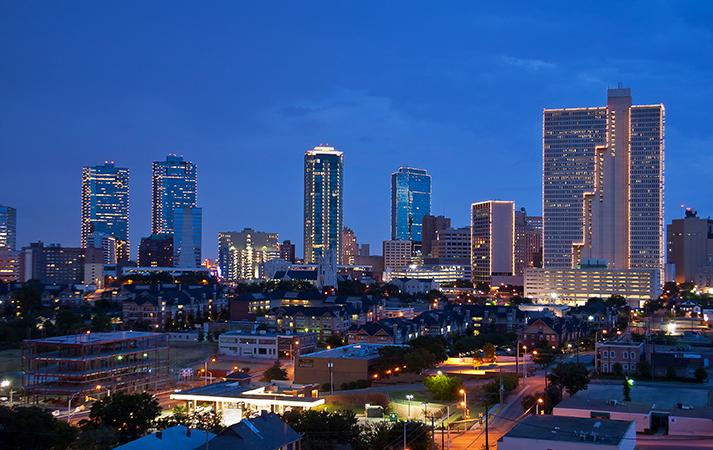 Fort Worth Texas Skyline