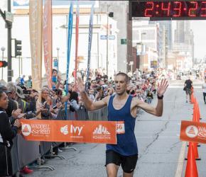 Brian Lewis 1st place Kansas City Marathon 2016