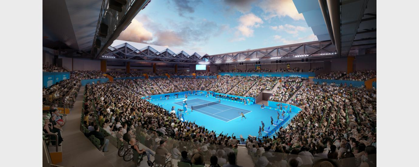 Margaret Court Arena Retractable Roof Addition