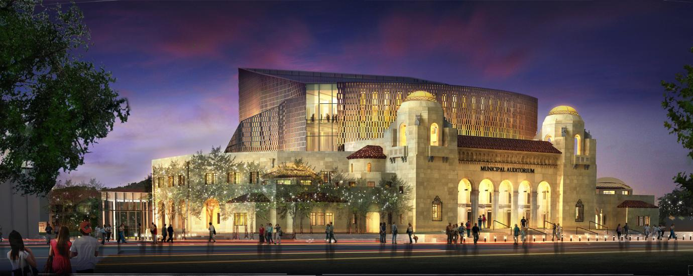 Tobin Center for the Performing Arts at Dusk