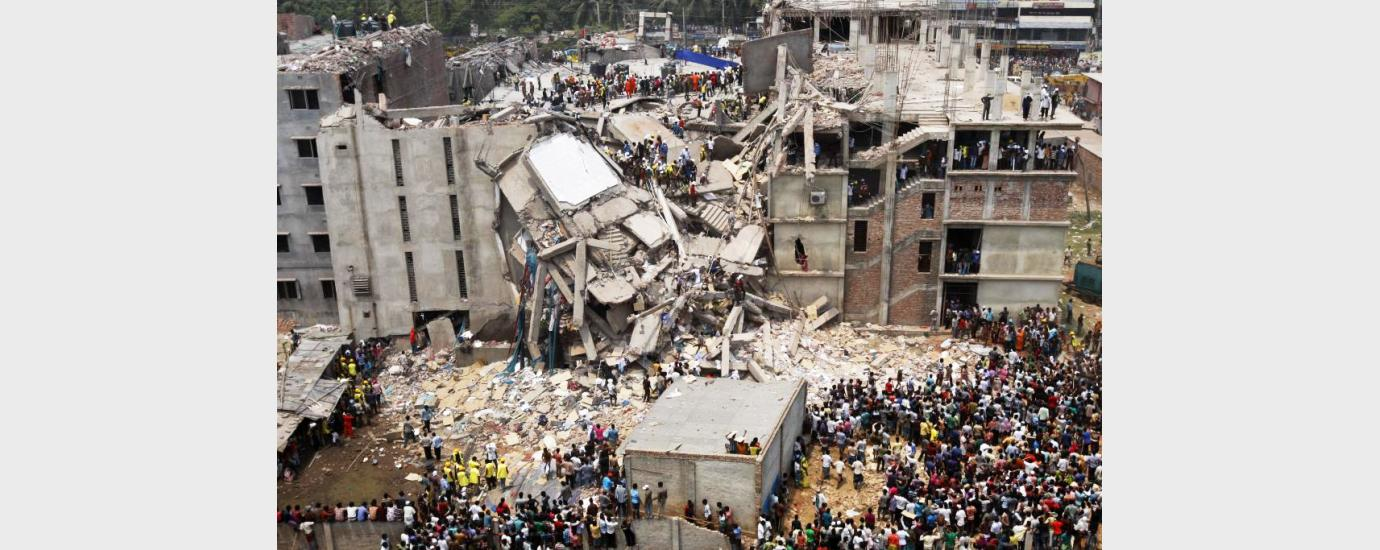 Rana Plaza building collapsed in the Bangladesh