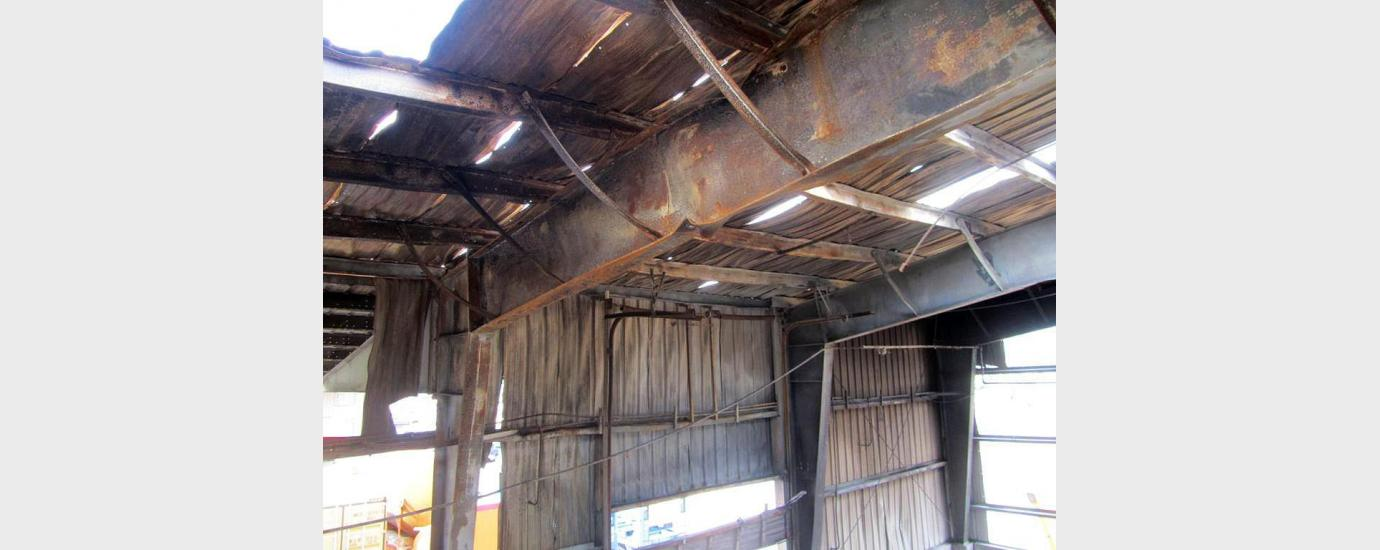 Port of Houston Authority Fire Damage Evaluation Barbours Cut Terminal RORO 1 Building