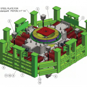 Stacked Tuned Mass Damper System